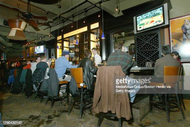 The bar in Grafton Street in Cambridge Tuesday night. PHOTOG NOTE: Chef Ryan Cyr told me he was unable to show off any Superbowl type fare as those...