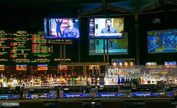 The bar in the sports book at Caesars Palace is viewed on May 19 2015 in Las Vegas Nevada Tourism in America's Sin City has within the past year made...