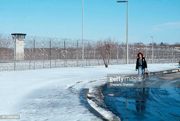 The barbed wire fence at Buckingham Correctional Institution a maximum security prison Photo by Shepard Sherbell/Corbis SABA