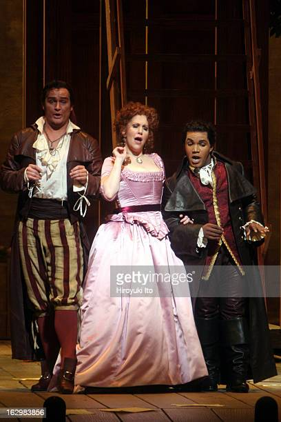 'The Barber of Seville' at the Metropolitan Opera House on Thursday night April 26 2007This imageFrom left Russell Braun Joyce DiDonato and Lawrence...