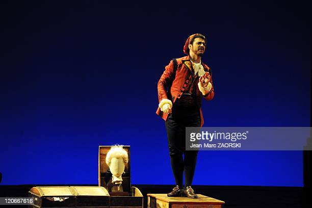 The Barber of Seville by Gioachino Rossini in Toulouse France on March 15 2011 Giorgio Caoduro during The Barber Of Seville an opera buffs in two...
