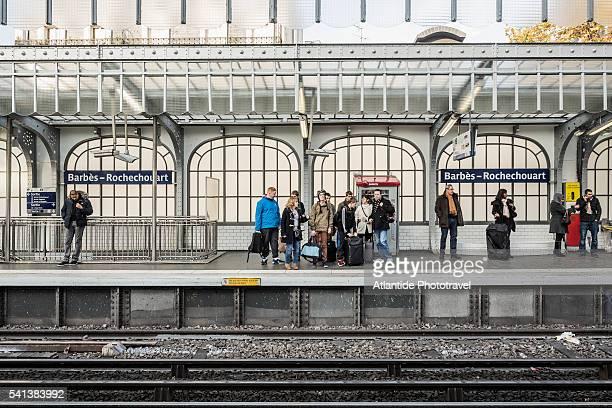 The Barbes-Rochechouart Metro (underground) Station