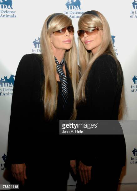 The Barbi Twins attend the first ever In Defense of Animals Benefit Concert at the Paramount Theater on the Paramont Studio's Lot on February 17 2007...