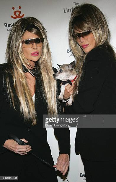 The Barbi Twins Shane and Sia attend the Best Friends Animal Society's annual fundraiser The Lint Roller Party at Smashbox Studios on September 14...