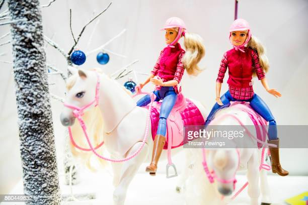 The Barbie DreamHorse is displayed as Hamley's announce it's top ten toys for Christmas at Hamleys on October 12 2017 in London England