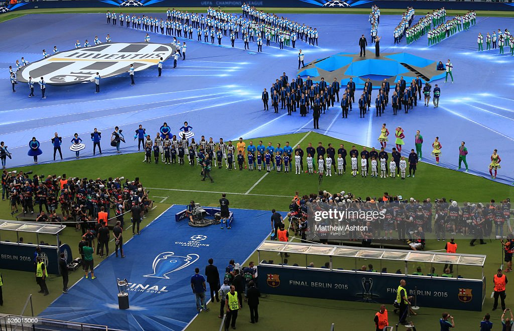 The Barcelona And Juventus Teams Line Up Before The Match News Photo Getty Images