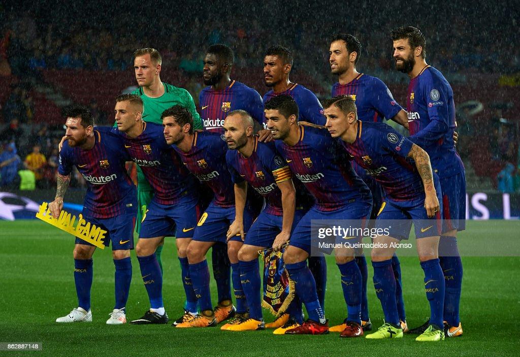 FC Barcelona v Olympiakos Piraeus - UEFA Champions League : News Photo