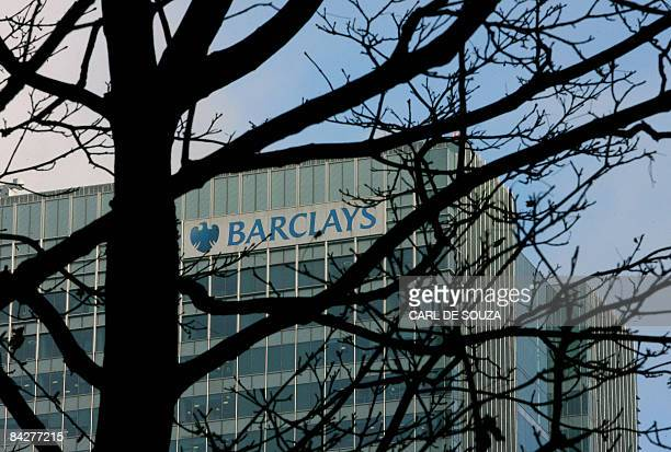 The Barclays Bank building is pictured in Canary Wharf in east London on January 14 2009 British banking giant Barclays is to cut 2100 jobs in its...