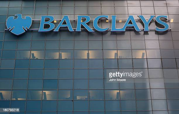 The Barclays building formerly the Lehman Brothers headquarters towers over Midtown Manhattan on September 16 2013 in New York City The collapse of...