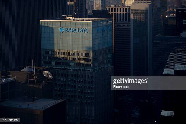 The Barclays Plc logo is displayed on the Barclays Capital building in New York US on Monday May 4 2015 Barclays Plc is entitled to $4 billion in...