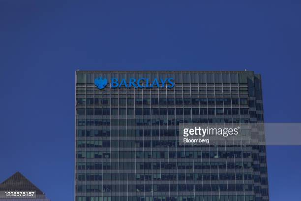 The Barclays Plc office headquarters office building stands in the Canary Wharf business financial and shopping district of London UK on Friday Sept...