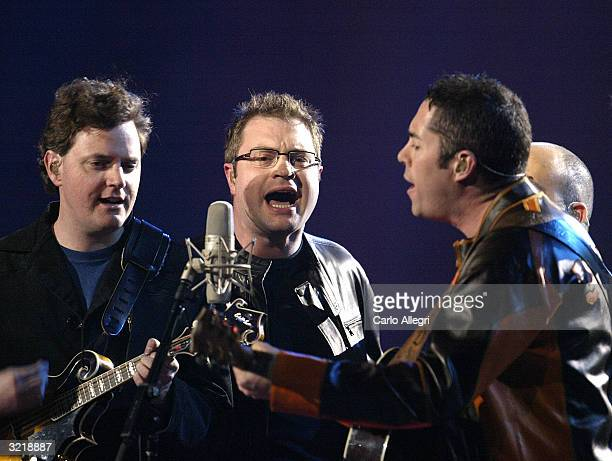 The Barenaked Ladies perform onstage at the 2004 Juno Awards at Rexall Place on April 4 2004 in Edmonton Alberta Canada The Junos celebrate...