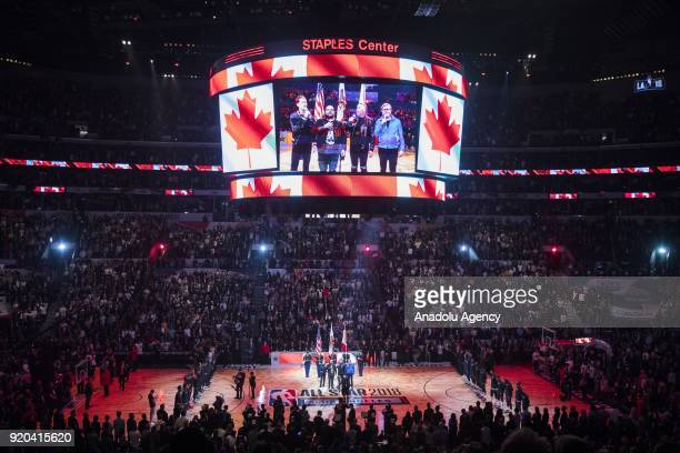 The Barenaked Ladies perform the Canadian national anthem before the start of the 2018 NBA AllStar Game at the Staples Center in Los Angeles...