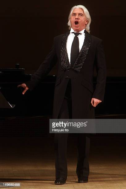 The baritone Dmitri Hvorostovsky accompanied by Ivari Ilja performing Faure Taneyev Liszt and Tchaikovsky at Carnegie Hall on Tuesday night February...