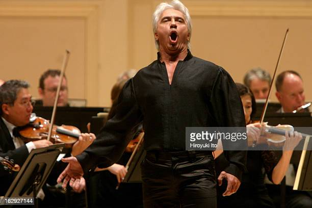The baritone Dmitri Hvorostovsky performing at Carnegie Hall on Wednesday night May 30 2007This imageThe baritone Dmitri Hvorostovsky performing...