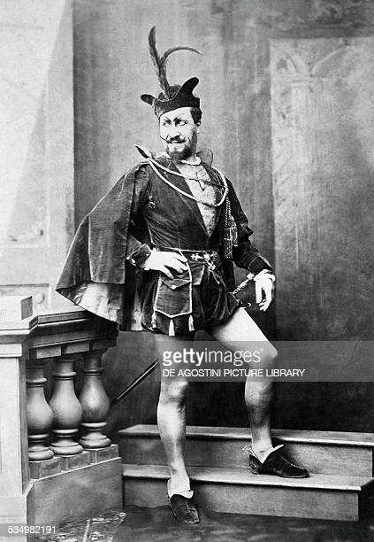 The baritone JeanBaptiste Faure in the role of Mephistopheles from Faust by Charles Gounod for the performance at Covent Garden in London 1864 19th...