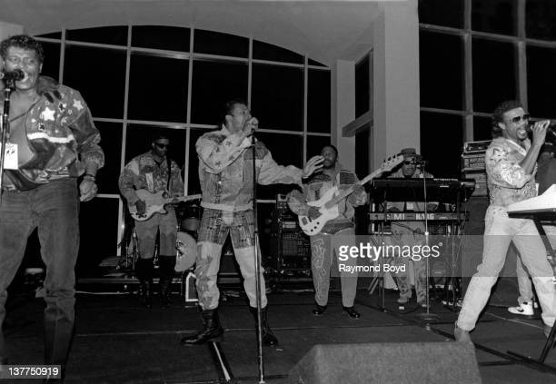The BarKays performs at the RR Convention at the Fontainebleau Hotel in Miami Florida in 1997