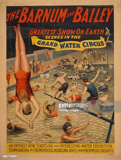 The Barnum Bailey greatest show on earth Scenes in the grand water circus c 1895 Artist The Strobridge Lithographing Company