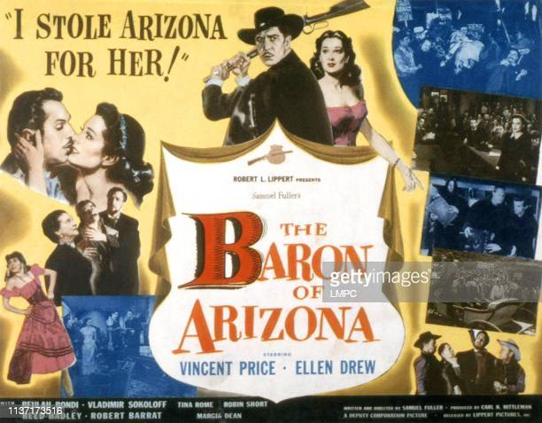The Baron Of Arizona lobbycard Vincent Price Ellen Drew 1950