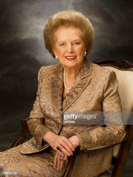 The Baroness Thatcher British Politician first female Leader of the Conservative Party and Prime Minister between 1979 and 1990 photographed in the...