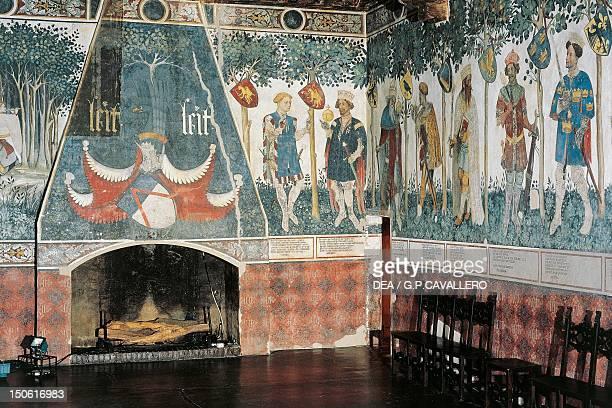 The Baronial Hall Della Manta Castle Manta Piedmont Italy 13th16th century