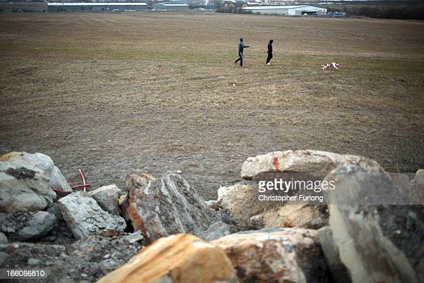 The barren land where the former Orgreave coking plant and open cast coal mine was situated 29 years on from the start of the miners strike on April...