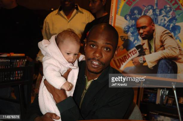 The Barrera Family late night shoppers at the Virgin Megastore in Hollywood enjoyed the surprise visit from comedy superstar Dave Chappelle as he...