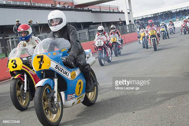 The Barry Sheene Parade during the MotoGp Of Great Britain Race at Silverstone Circuit on September 4 2016 in Northampton England