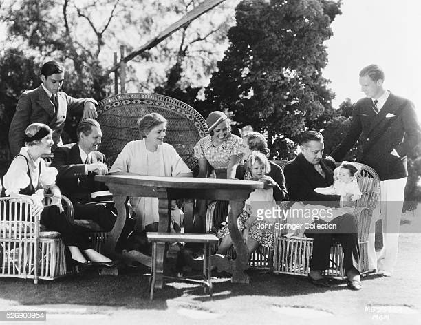 The Barrymore family at a reunion at John Barrymore's home The gettogether was made possible by John Lionel and Ethel starring together in the film...