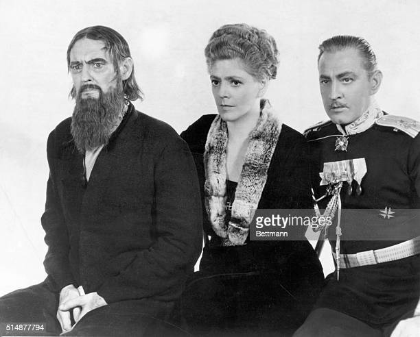Lionel Ethel and John Barrymore John as Prince Paul Ethel as the Czarina and Lionel as Rasputin In the MGM picture of the same name Photograpg 1932