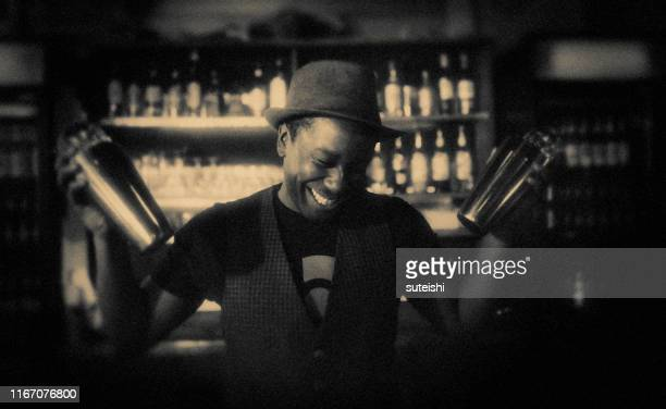 the bartender - jazz stock pictures, royalty-free photos & images