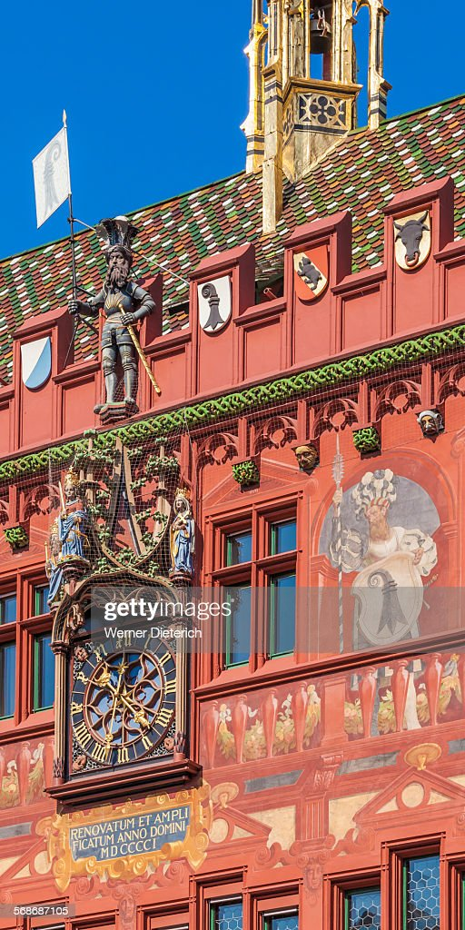 The Basel Town Hall in Basel, Switzerland : Stock Photo