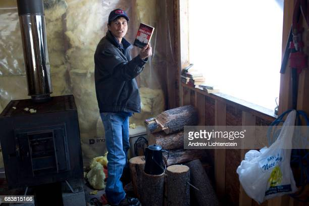 The Basil family search a deserted hunter's cabin for any evidence of Mackie Basil's disappearence on April 25 2016 in the remote wilderness outside...