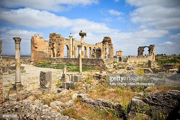 The basilica at Volubilis
