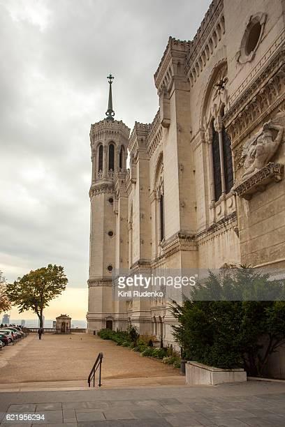 The Basilica of Notre-Dame de Fourvière in Lyon, France