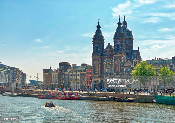 The Basilica of Saint Nicholas at the Prins Hendrikkade Street on May 27 2018 in Amsterdam Netherlands This is the major Catholic Church of the city