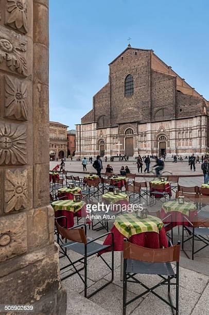 CONTENT] The Basilica of San Petronio is the main church of Bologna Emilia Romagna northern Italy It dominates the Piazza Maggiore
