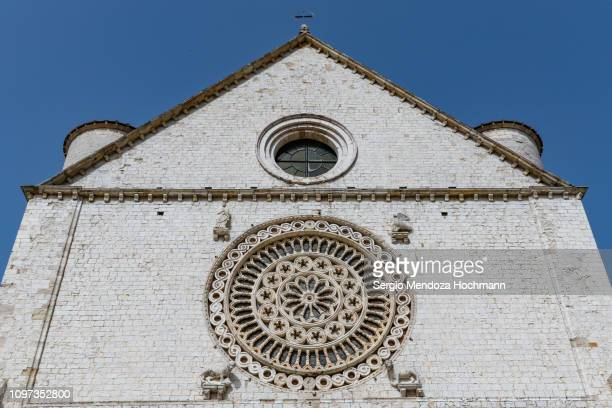 the basilica of st. francis - assisi, italy - basilica stock pictures, royalty-free photos & images