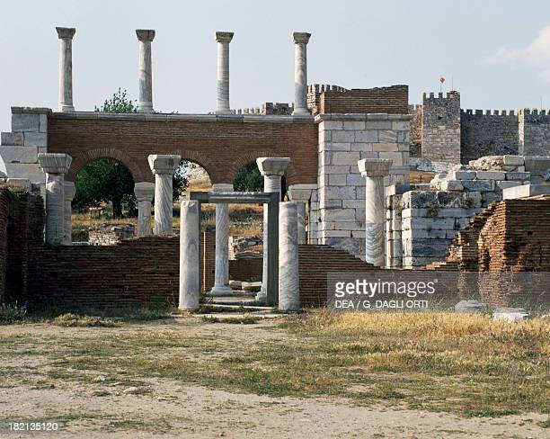 The Basilica of St John built by Justinian in the 6th century on the site of the Tomb of the Apostle Ephesus Turkey Roman Civilisation 6th century