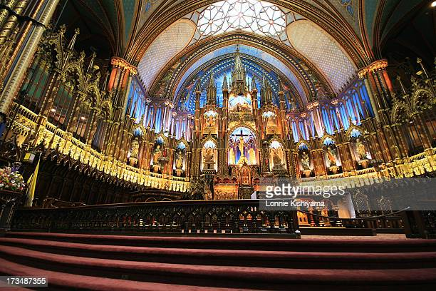 The Basilique Notre Dame in Old Montreal, Canada, is an amazing sight. The design of the interior of the church was inspired by the colors of the...