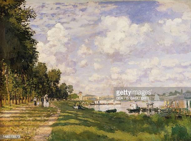 The Basin at Argenteuil by Claude Monet oil on canvas 60x805 cm Paris Musée D'Orsay