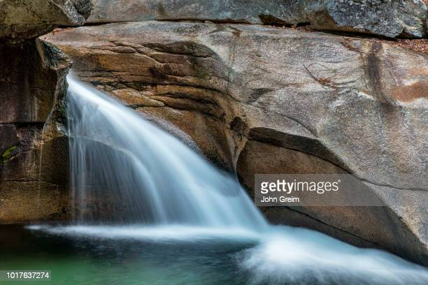 The Basin waterfall in Franconia State Park