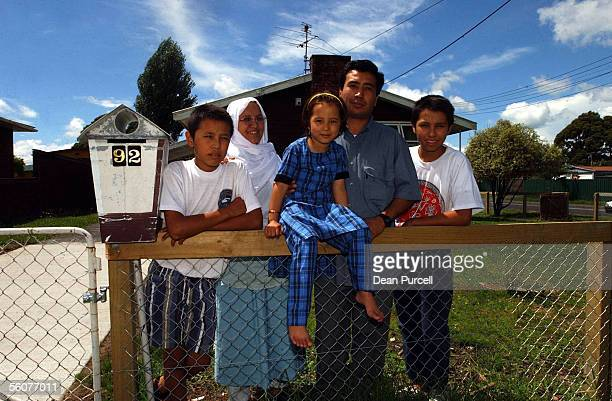 The Basiri family refugees all the way from Afghanistan via the Tampa settle into their new home in Auckland Hadi Akimeh Lila Shahwali and Mawdi