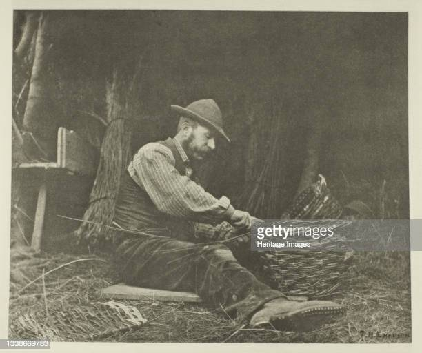 The Basket-Maker , circa 1883/87, printed 1888. A work made of photogravure, pl. Xv from the album 'pictures of east anglian life' . Artist Peter...