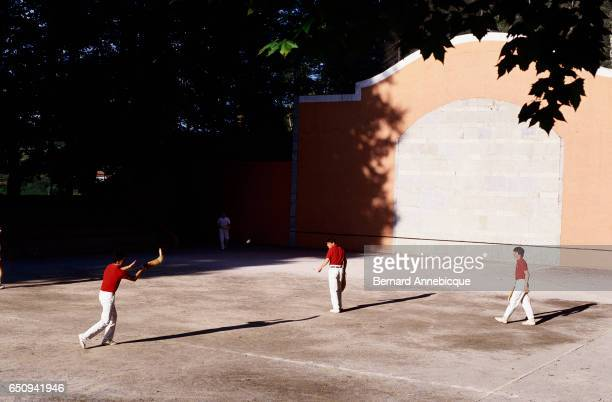 The Basque sport of pelote also known as pilota or pelota and in America called jai alai