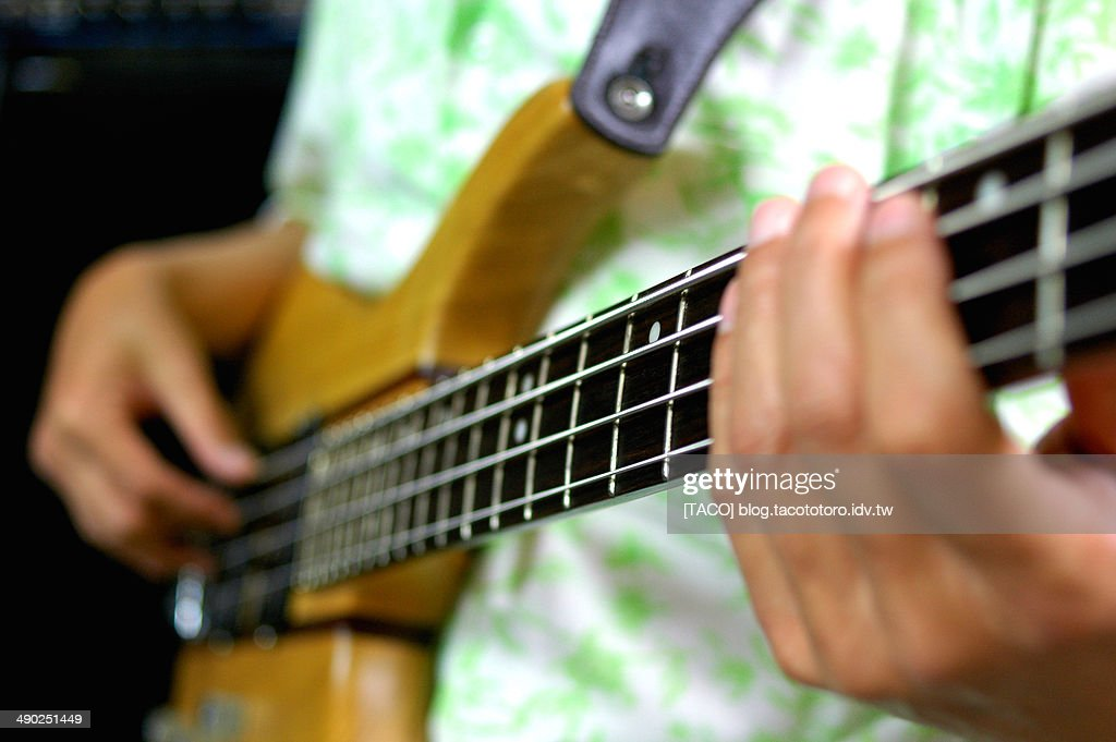 The Bass Player : Stock Photo