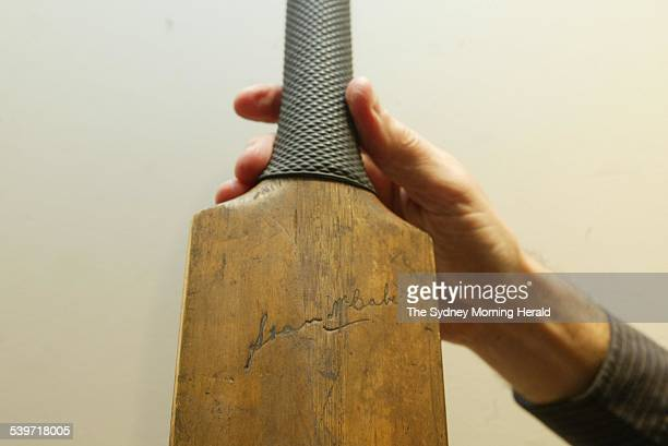 The bat with which Test batsman Stan McCabe scored his famous 187 not out in the first Test of the Bodyline Ashes series in 1932 is to be auctioned...