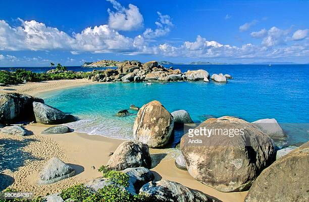 The Bath Beach, nature reserve of Virgin Gorda in the Bristish Virgin Islands