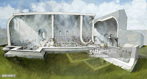 The bath house at Wroxeter Roman City c2nd century Reconstruction drawing of bath house architecture Wroxeter is on the site of the Roman city of...