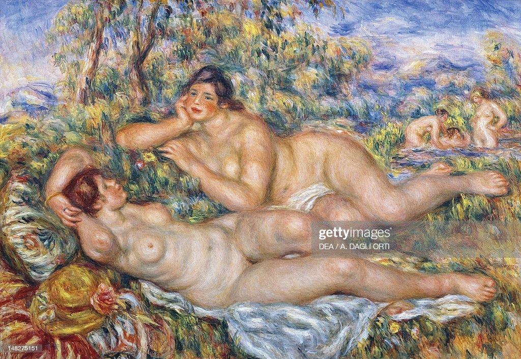 the-bathers-by-pierreauguste-renoir-oil-on-canvas-110x60-cm-paris-picture-id148275151